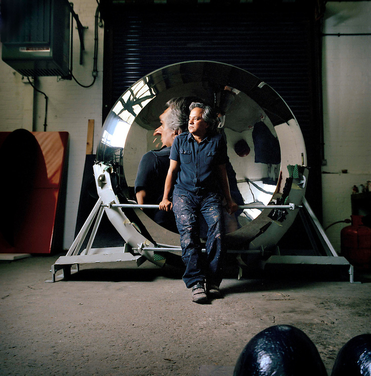 Artist Anish Kapoor, photographed in his studio in Camberwell, south London, Britain.