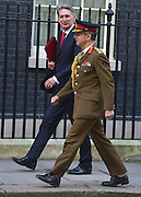 © Licensed to London News Pictures. 05/02/2013. Westminster, UK Defence Secretary Philip Hammond (L) and General Sir David Richards, Chief of the Defence Staff on Downing Street on 5th February 2013. Photo credit : Stephen Simpson/LNP
