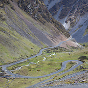 The Interoceanica Sur highway between Cusco and Puerto Maldonado, Peru. A 430 kilometer section of the transcontinental Interoceanic Highway that crosses Peru and Brazil.