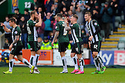 Plymouth Argyle's Gregg Wylde celebrates scoring the opening goal during the Sky Bet League 2 match between Plymouth Argyle and Mansfield Town at Home Park, Plymouth, England on 13 February 2016. Photo by Graham Hunt.