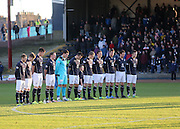 A minutes silence for former Dundee player Ian Redford - Dundee v Livingston,  SPFL Championship at Dens Park<br /> <br />  - &copy; David Young - www.davidyoungphoto.co.uk - email: davidyoungphoto@gmail.com