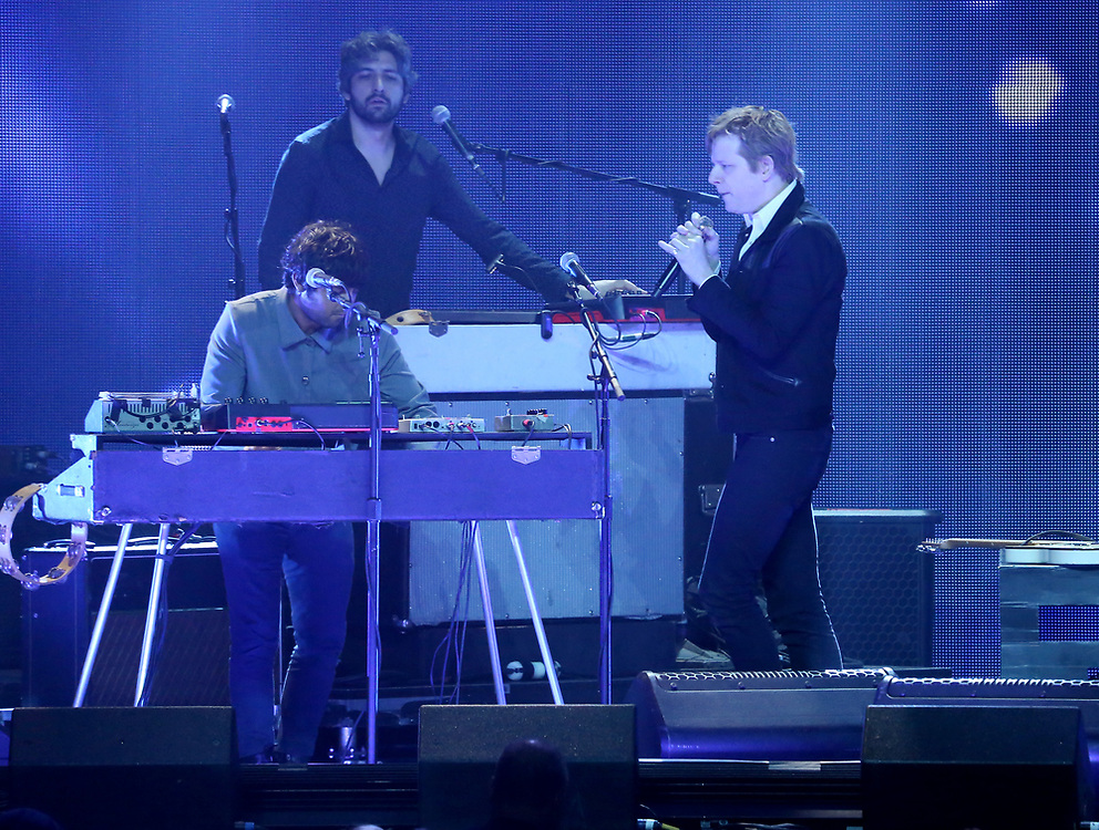 Rock band Spoon perform on stage at the 2018 iHeartRadio ALTer EGO festival at The Forum on Friday, Jan. 19, 2018, in Inglewood, CA. (Photo by Willy Sanjuan/Invision/AP)