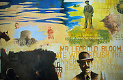 """James Joyce Center. Murales telling episodes and characters of """"Ulysses""""."""
