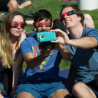 Solar Eclipse Viewing Party on the Quad, Allison Corona photo