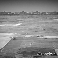aerial image drill pad blackfeet reservation glacier park backdrop conservation photography - blackfeet oil