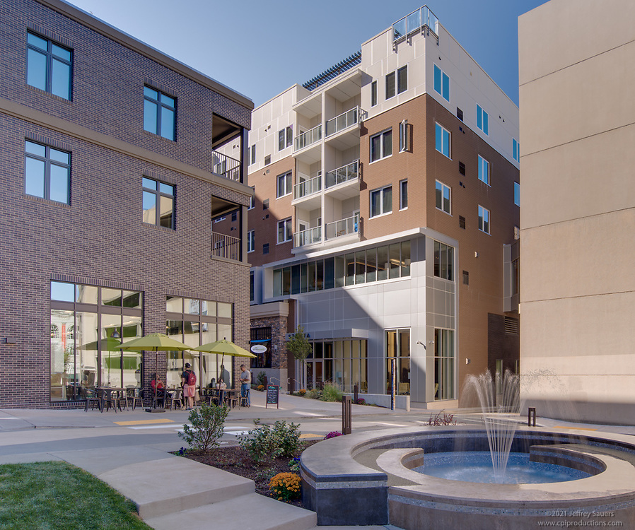 Architectural Image of Four City Center Apartments in Allentown PA by Jeffrey Sauers of Commercial Photographics, Architectural Photo Artistry in Washington DC, Virginia to Florida and PA to New England