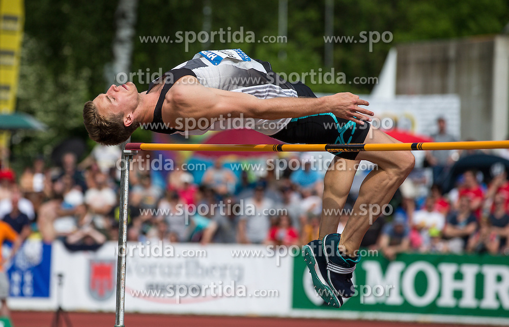 28.05.2016, Moeslestadion, Goetzis, AUT, 42. Hypo Meeting Goetzis 2016, Zehnkampf der Herren, Hochsprung, im Bild Niels Pittomvils (BEL) // during the high jump event of the Decathlon competition at the 42th Hypo Meeting at the Moeslestadion in Goetzis, Austria on 2016/05/28. EXPA Pictures © 2016, PhotoCredit: EXPA/ Peter Rinderer