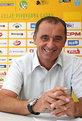 Manager of club Mijo Zorko at press conference of handball club RK Celje Pivovarna Lasko before new season 2008/2009, on September 2, 2008 in Celje, Slovenia. (Photo by Vid Ponikvar / Sportal Images)