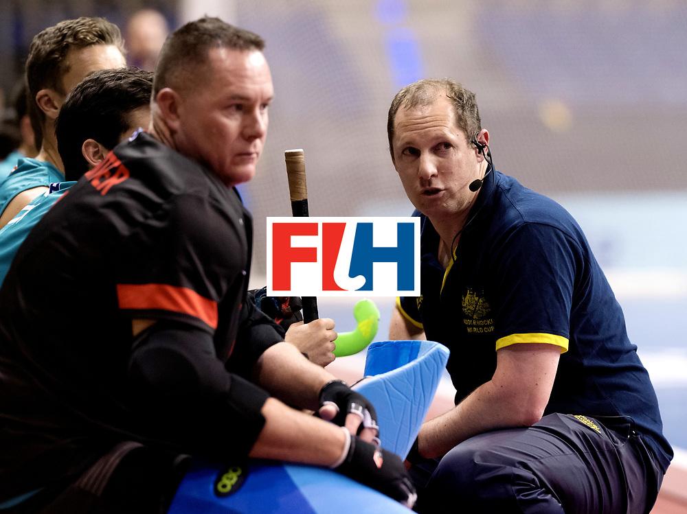 BERLIN - Indoor Hockey World Cup<br /> Men: Australia - Czech Republic<br /> foto: Steve Miller.<br /> WORLDSPORTPICS COPYRIGHT FRANK UIJLENBROEK