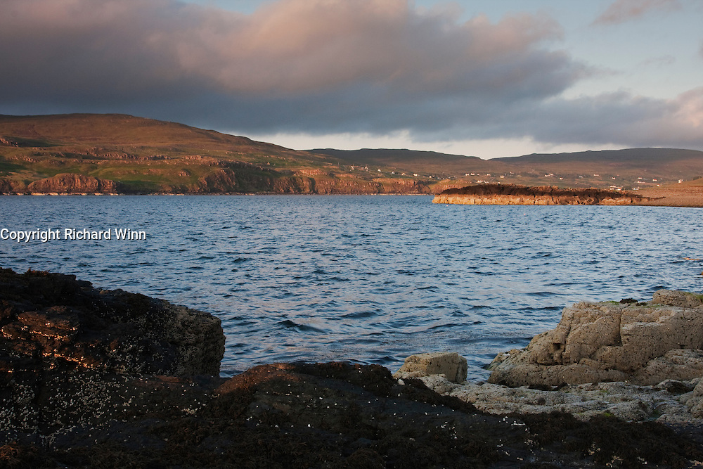 Looking inland across Loch Pooltiel from Meanish Pier.