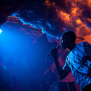 October 17, 2012 - Brooklyn, NY : .The rapper LE1F performs at Glasslands Gallery in Brooklyn early on Wednesday morning during the first night of the annual CMJ Music festival..CREDIT: Karsten Moran for The New York Times