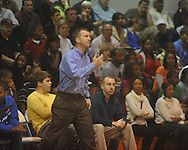 Oxford High coach Drew Tyler  vs. Lafayette High in boys high school basketball action in Oxford, Miss., on Tuesday, January 18, 2011. Lafayette won.