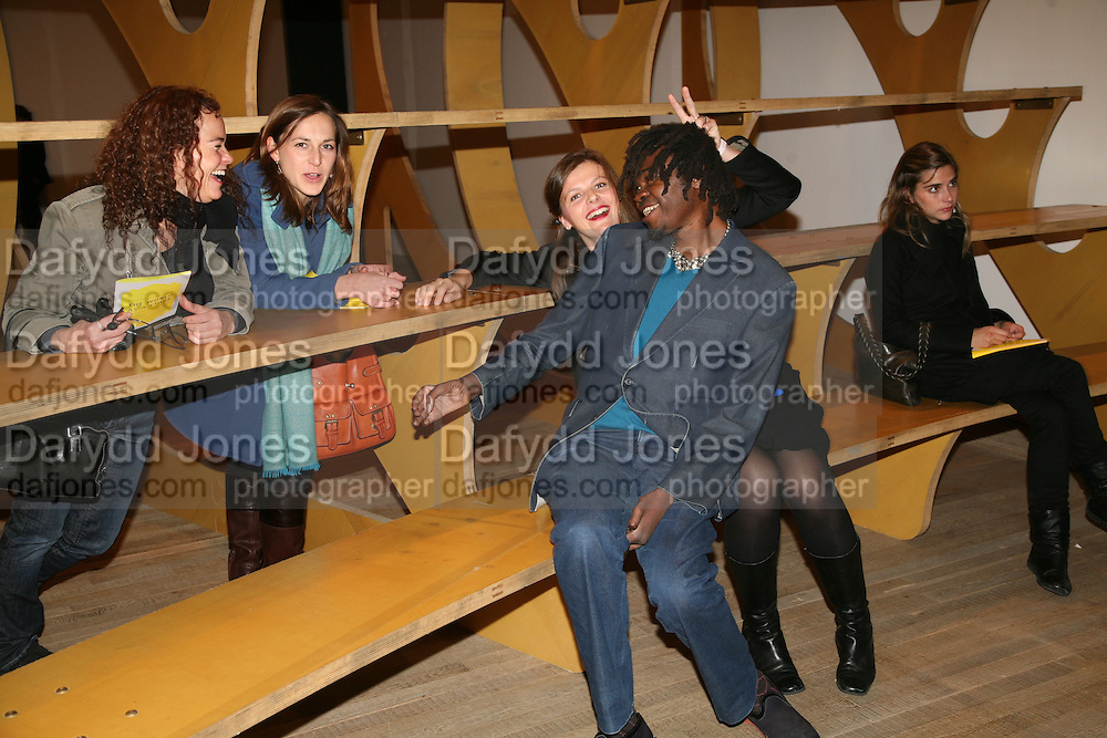 AILEEN CORKERY, JO STELLA-SAWICKA, MAXA ZOLLER AND YINKA SHONIBARE, 'The World As A Stage' Mixed exhibition. Tate Modern. 23 October 2007. -DO NOT ARCHIVE-© Copyright Photograph by Dafydd Jones. 248 Clapham Rd. London SW9 0PZ. Tel 0207 820 0771. www.dafjones.com.