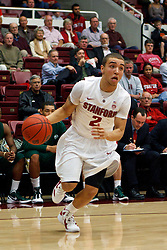 Nov 15, 2011; Stanford CA, USA;  Stanford Cardinal guard Aaron Bright (2) dribbles the ball against the Colorado State Rams during the first half of a preseason NIT game at Maples Pavilion. Stanford defeated Colorado State 64-52. Mandatory Credit: Jason O. Watson-US PRESSWIRE