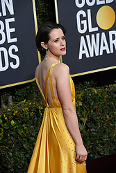 January 6, 2019 - Beverly Hills, California, U.S. - CLAIRE FOY during red carpet arrivals for the 76th Annual Golden Globe Awards at The Beverly Hilton Hotel. (Credit Image: © Kevin Sullivan via ZUMA Wire)