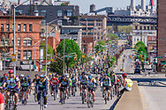 The Five Boro Bike Tour is the largest recreational cycling event in the United States, Pulaski Bridge, Queens, New York City, New York, USA