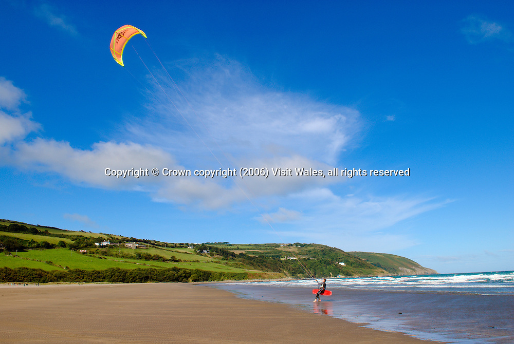 Kite surfing<br /> Cardigan<br /> Mid Wales<br /> Activities &amp; Sports