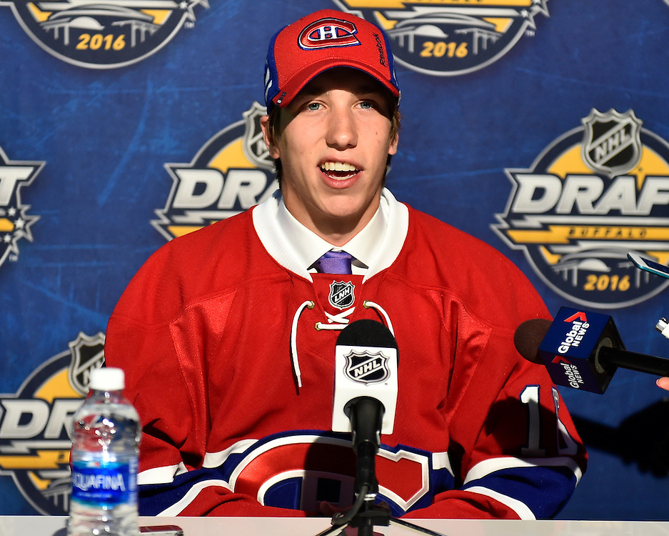 William Bitten of the Flint Firebirds was selected by the Montreal Canadiens at the 2016 NHL Draft in Buffalo, NY on Saturday June 25, 2016. Photo by Aaron Bell/CHL Images