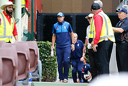 England's Joe Root arrives at the ground during day five of the Ashes Test match at Sydney Cricket Ground.