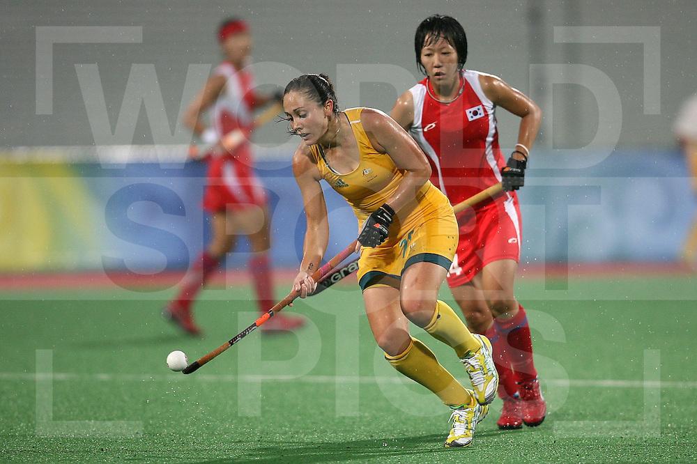 ..Hope Munro of Australia against Korea, Beijing Olympic Green Hockey Stadium -10-8-08 ..Photo: Grant Treeby/WSP