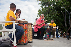 "Eddie Bruce & Co. perform with students from Julius E. Sprauve School.  The Virgin Islands National Park Service presents the 26th Annual Folk-life Festival ""Celebrating Transfer Day from the Danish West Indies to the United States Virgin Islands""  Annaberg Sugar Plantation Ruins.  23 February 2017.  © Aisha-Zakiya Boyd"