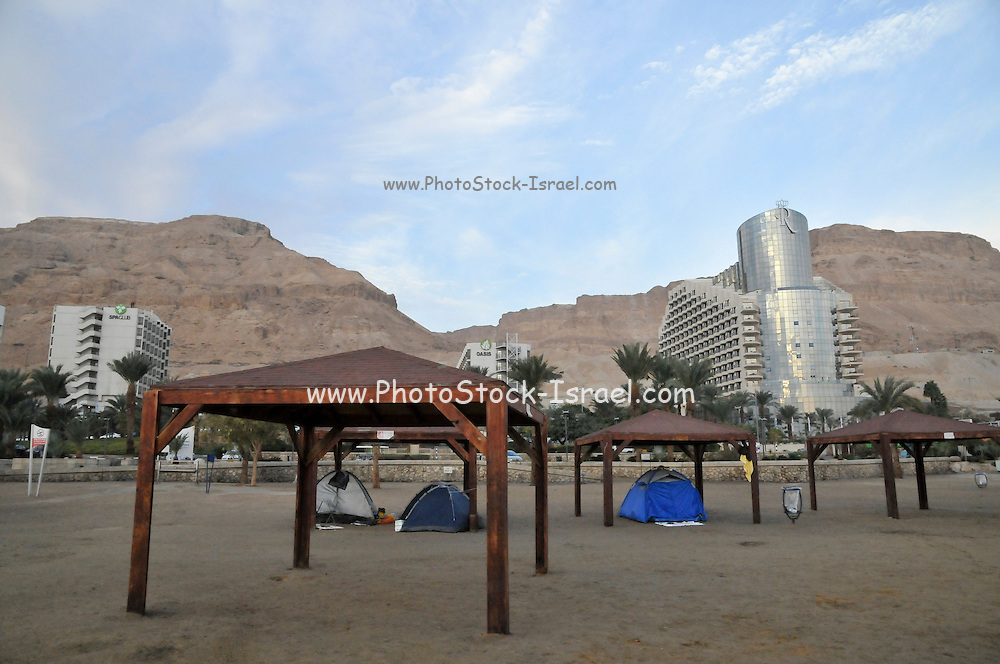 Israel, Dead Sea, Hotel area