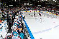 KELOWNA, CANADA - APRIL 14: The Kelowna Rockets' bench at the start of the third period against the Portland Winterhawks on April 14, 2017 at Prospera Place in Kelowna, British Columbia, Canada.  (Photo by Marissa Baecker/Shoot the Breeze)  *** Local Caption ***