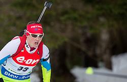 Andreja Mali of Slovenia competes during Women 7.5 km Sprint at day 1 of IBU Biathlon World Cup 2014/2015 Pokljuka, on December 18, 2014 in Rudno polje, Pokljuka, Slovenia. Photo by Vid Ponikvar / Sportida