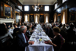 Guests attend A Very Special Afternoon Tea with Prue Leith and Terry Jones, as they launch Nourish website and community, which is dedicated to helping people with cancer and dementia through the power of good food and expert support, at the Royal Hospital Chelsea in London.