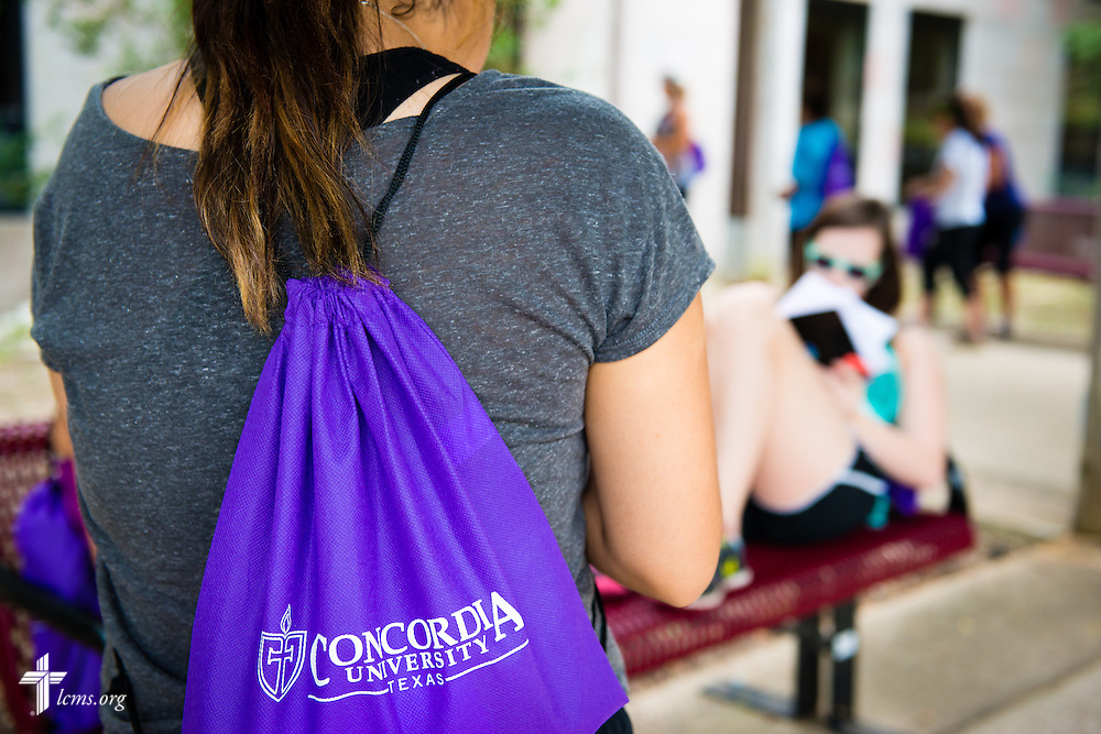 Students congregate at Concordia University Texas on Wednesday, July 16, 2014, in Austin, Texas. LCMS Communications/Erik M. Lunsford