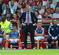 Nottingham Forest's Manager Stuart Pearce gives his players directions. - Photo mandatory by-line: Alex James/JMP - Mobile: 07966 386802 09/08/2014 - SPORT - FOOTBALL - Nottingham - City Ground - Nottingham Forest v Blackpool - Sky Bet Championship - First game of the season