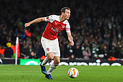Arsenal Defender Stephan Lichtsteiner (12) during the Europa League group stage match between Arsenal and Sporting Lisbon at the Emirates Stadium, London, England on 8 November 2018.