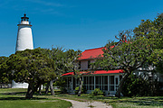 Ocracoke Island Lighthouse on Ocracoke Island, NC on May 24, 2018.