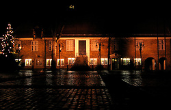 GERMANY ECKERNFOERDE 23DEC06 - Eckernfoerde old town hall, now the famous 'Ratskeller' restaurant in the town's square illuminated at night...jre/Photo by Jiri Rezac....© Jiri Rezac 2006