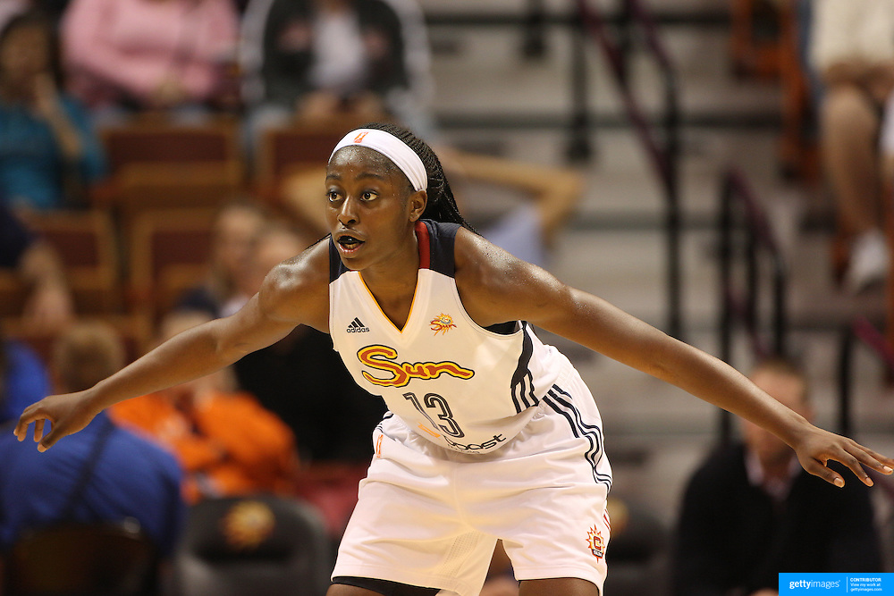 Chiney Ogwumike, Connecticut Sun, in action during the Connecticut Sun Vs Seattle Storm WNBA regular season game at Mohegan Sun Arena, Uncasville, Connecticut, USA. 23rd May 2014. Photo Tim Clayton