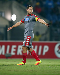 Dean Furman of SuperSport United during the 2016 Premier Soccer League match between Maritzburg Utd and SuperSport United held at the Harry Gwala Stadium in Pietermaritzburg, South Africa on the 21st September 2016<br /> <br /> Photo by:   Steve Haag / Real Time Images