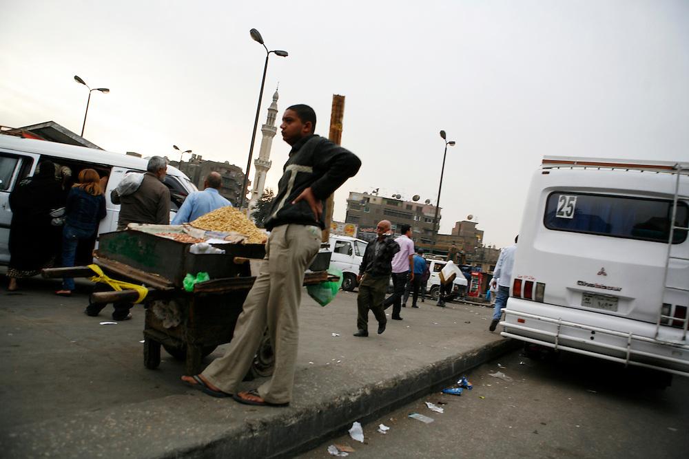 A street vendor in Cairo.