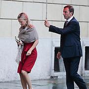 ITA/Parma/20120929- Doop prinses Luisa Irene, aankomst prinses Carolina