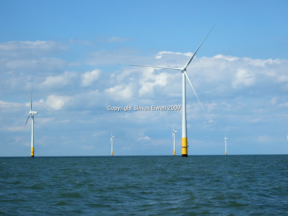 Kentish Flats Windfarm seen from the Thames Estuary