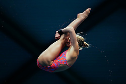 Sarah Barrow from Plymouth Diving wins the Womens 10m Platform Final - Mandatory byline: Rogan Thomson/JMP - 11/06/2016 - DIVING - Ponds Forge - Sheffield, England - British Diving Championships 2016 Day 2.
