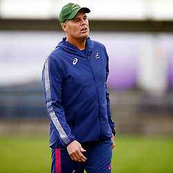 TOKYO, JAPAN - OCTOBER 15: Rassie Erasmus (Head Coach) of South Africa during the South African national rugby team training session at Fuchu Asahi Football Park on October 15, 2019 in Tokyo, Japan. (Photo by Steve Haag/Gallo Images)