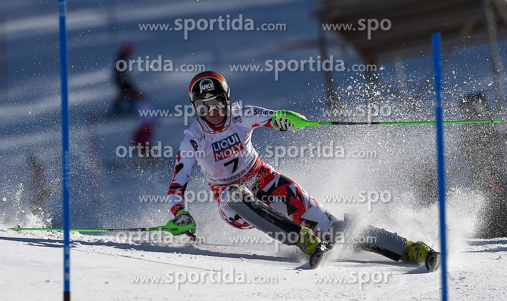 14.02.2015, Birds of Prey, Beaver Creek, USA, FIS Weltmeisterschaften Ski Alpin, Vail Beaver Creek 2015, Damen, Slalom, 2. Durchgang, im Bild Nicole Hosp (AUT) // Nicole Hosp of Austria in action during 2nd run of the ladie's Slalom of FIS Ski World Championships 2015 at the Birds of Prey in Beaver Creek, United States on 2015/02/14. EXPA Pictures © 2015, PhotoCredit: EXPA/ Jonas Ericson