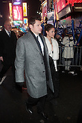 31 December 2009- New York, New York- Nick Lachey and Vanessa Minnillo on New Years Eve in 42 street area of Times Square. Photo Credit: Terrence Jennings/SIPA USA