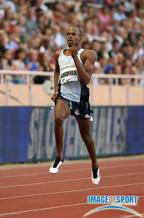 Steven Gardiner (BAH) wins the 400m in 44.51 during the Herculis Monaco in an IAAF Diamond League meet at Stade Louis II stadium in Fontvieille, Monaco on Friday, July 12, 2019. (Jiro Mochizukii/Image of Sport)