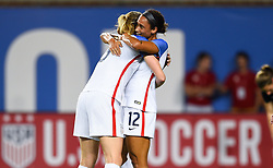 September 19, 2017 - Cincinnati, OH, USA - Cincinnati, OH - Tuesday September 19, 2017: Lynn Williams celebrates during an International friendly match between the women's National teams of the United States (USA) and New Zealand (NZL) at Nippert Stadium. (Credit Image: © Brad Smith/ISIPhotos via ZUMA Wire)