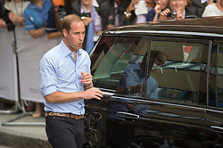 Duke and Duchess of Cambridge with their new baby boy.<br /> Prince William carrying the baby to the car,<br /> Lindo Wing of St Mary's Hospital, London, United Kingdom<br /> Tuesday, 23rd July 2013<br /> Picture by i-Images