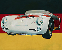 The 1956 Porsche 550-A Spyder for the German flag is best known for what famous people, such as movie actors, did with this sports car. The Porsche 550-A Spyder is a pure sports car and an exceptional model in the Porsche range. This is one of the reasons why it is so sought after by collectors, because every Porsche 550-A Spyder has a story to tell.<br />