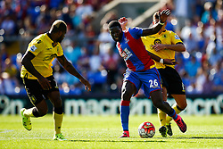 Bakary Sako of Crystal Palace under pressure from Ashley Westwood of Aston Villa - Mandatory byline: Jason Brown/JMP - 07966386802 - 22/08/2015 - FOOTBALL - London - Selhurst Park - Crystal Palace v Aston Villa - Barclays Premier League