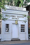 The Columbia Gazette Printing Office in Columbia, Columbia State Historic Park, Highway 49, Gold Country, California