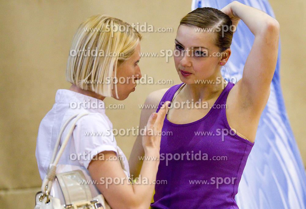 Lena Jakubovska and Tjasa Seme of Slovenia during 24th MTM International Youth Tournament in Rhythmic Gymnastics organized by Narodni dom Ljubljana, on April 9, 2011 in Arena Krim Galjevica, Ljubljana, Slovenia.  (Photo By Vid Ponikvar / Sportida.com)
